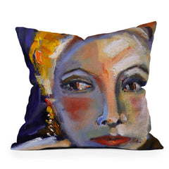Ginette Fine Art Face 1 Throw Pillow