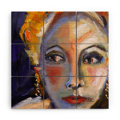 Ginette Fine Art Face 1 Wood Wall Mural