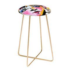 Ginette Fine Art Glances Counter Stool