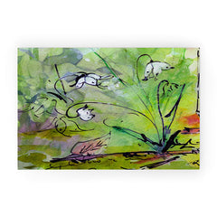 Ginette Fine Art Lily Of The Valley Welcome Mat