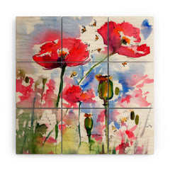 Ginette Fine Art My Lovely Garden Wood Wall Mural