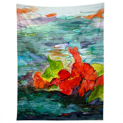 Ginette Fine Art Pool Flowers Tapestry