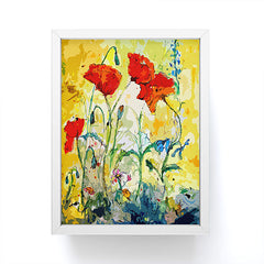 Ginette Fine Art Poppies Provence Framed Mini Art Print
