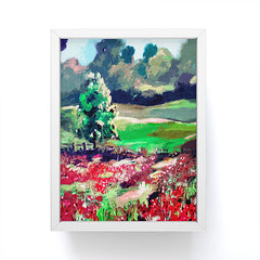 Ginette Fine Art Poppy Landscape Somme France Framed Mini Art Print