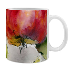 Ginette Fine Art Red Apples Watercolors Coffee Mug