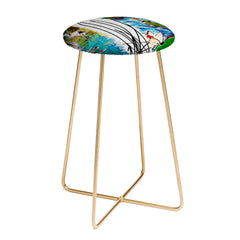 Ginette Fine Art Red Crowned Cranes Counter Stool