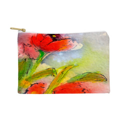 Ginette Fine Art Red Tulips 3 Pouch