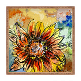 Ginette Fine Art Sunflower Moroccan Eyes Square Tray