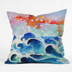 Ginette Fine Art Tides Of Time Outdoor Throw Pillow