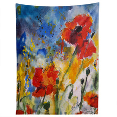 Ginette Fine Art Wildflowers Poppies 2 Tapestry