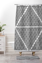 Gneural 55 Coffee Cups Shower Curtain And Mat