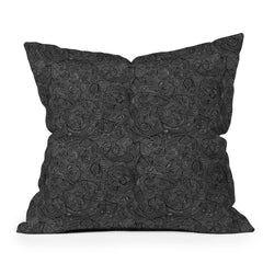 Gneural Inverted Currents Throw Pillow