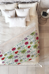 Hadley Hutton Birch Rose Collection 2 Fleece Throw Blanket