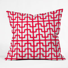 Hadley Hutton Lattice Jags Red Outdoor Throw Pillow