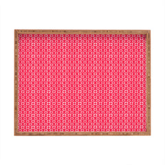 Hadley Hutton Lattice Pieces Red Rectangular Tray
