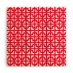 Hadley Hutton Lattice Pieces Red Wood Wall Mural