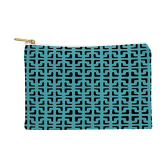 Hadley Hutton Lattice Pieces Teal Pouch