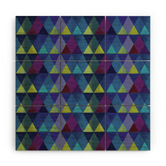 Hadley Hutton Scaled Triangles 3 Wood Wall Mural