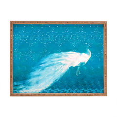 Hadley Hutton Starry Night Peacock Rectangular Tray