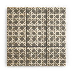 Hadley Hutton Woven Grey Wood Wall Mural