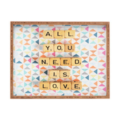 Happee Monkee All You Need Is Love 2 Rectangular Tray