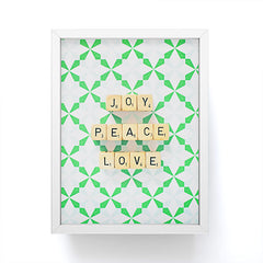 Happee Monkee Joy Peace Love Framed Mini Art Print