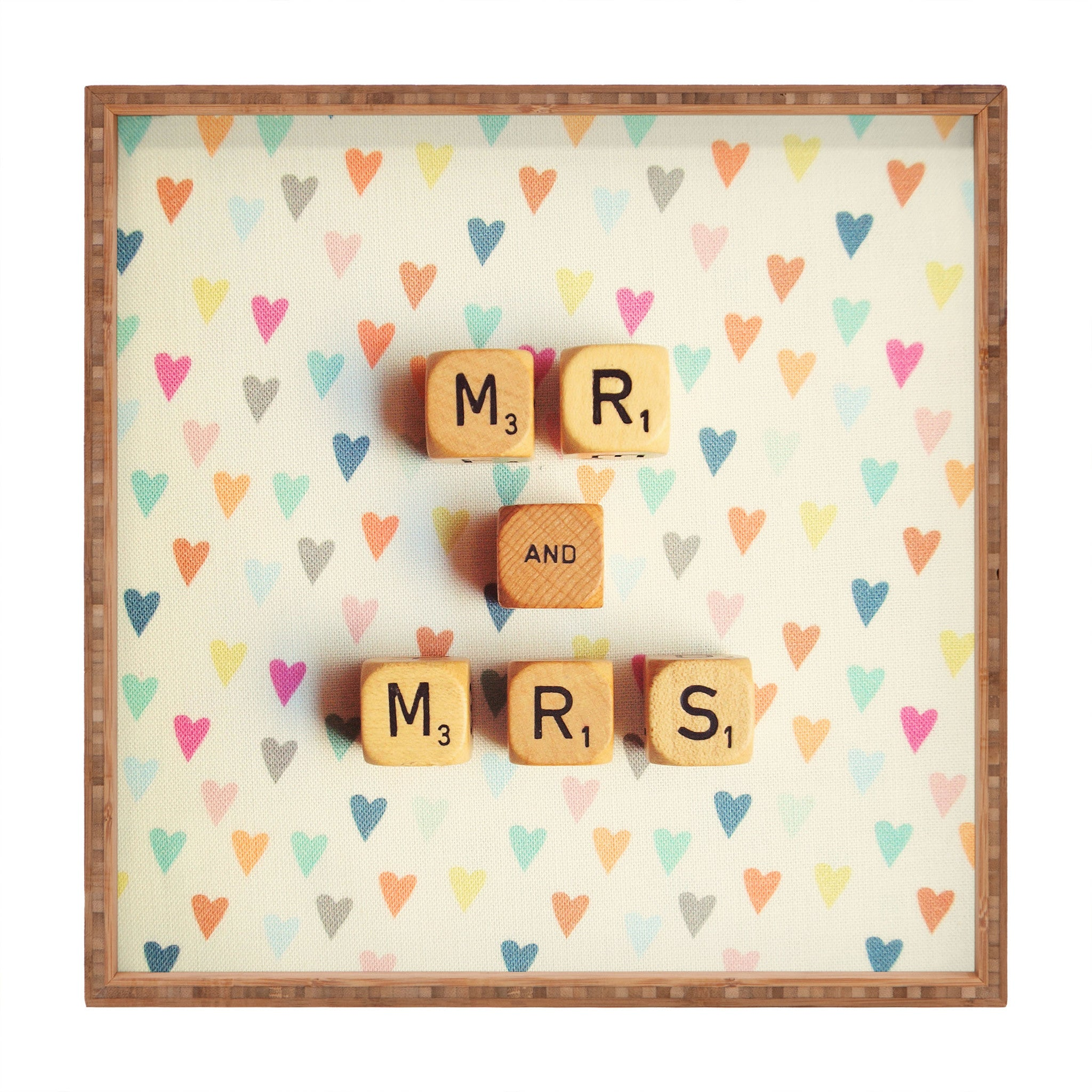 Happee Monkee Mr And Mrs Square Tray