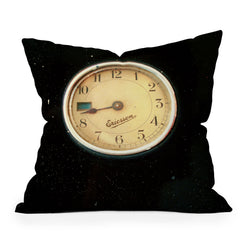 Happee Monkee Retro Clock Throw Pillow