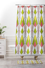 Heather Dutton Arcada Citrus Shower Curtain And Mat