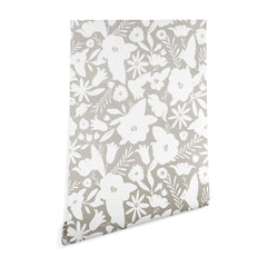 Heather Dutton Finley Floral Stone Wallpaper