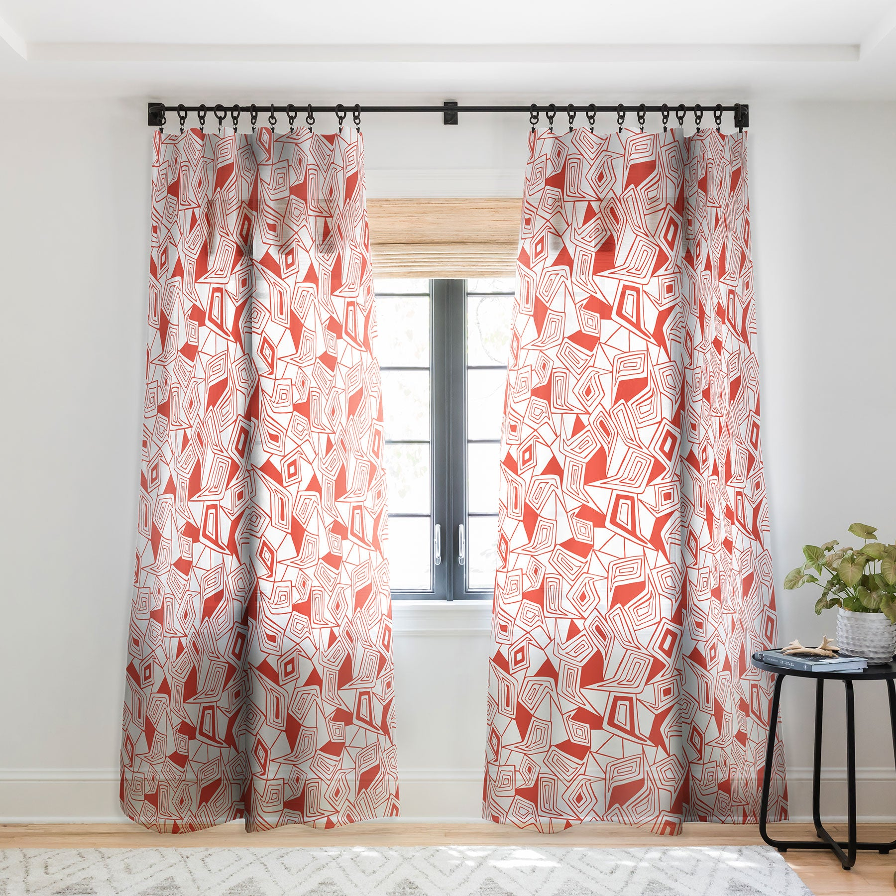 Heather Dutton Fragmented Flame Sheer Window Curtain