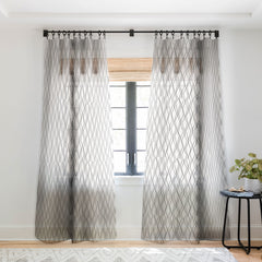 Heather Dutton Fuge Stone Sheer Window Curtain