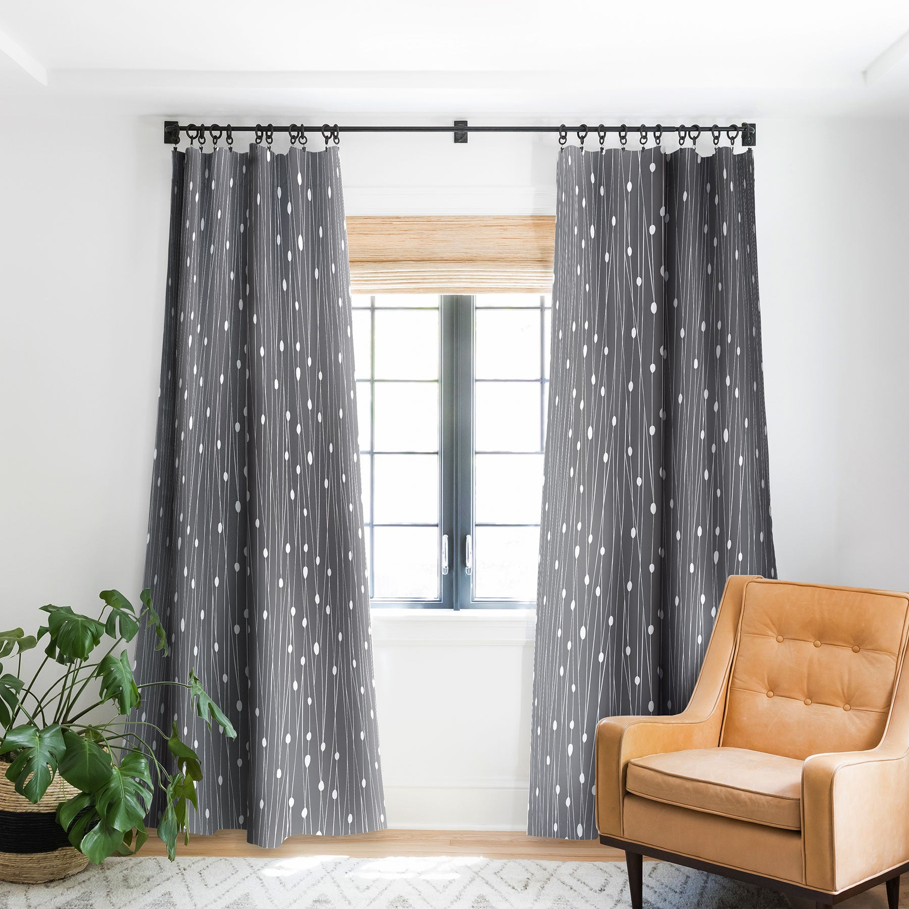 Heather Dutton Gray Entangled Blackout Window Curtain