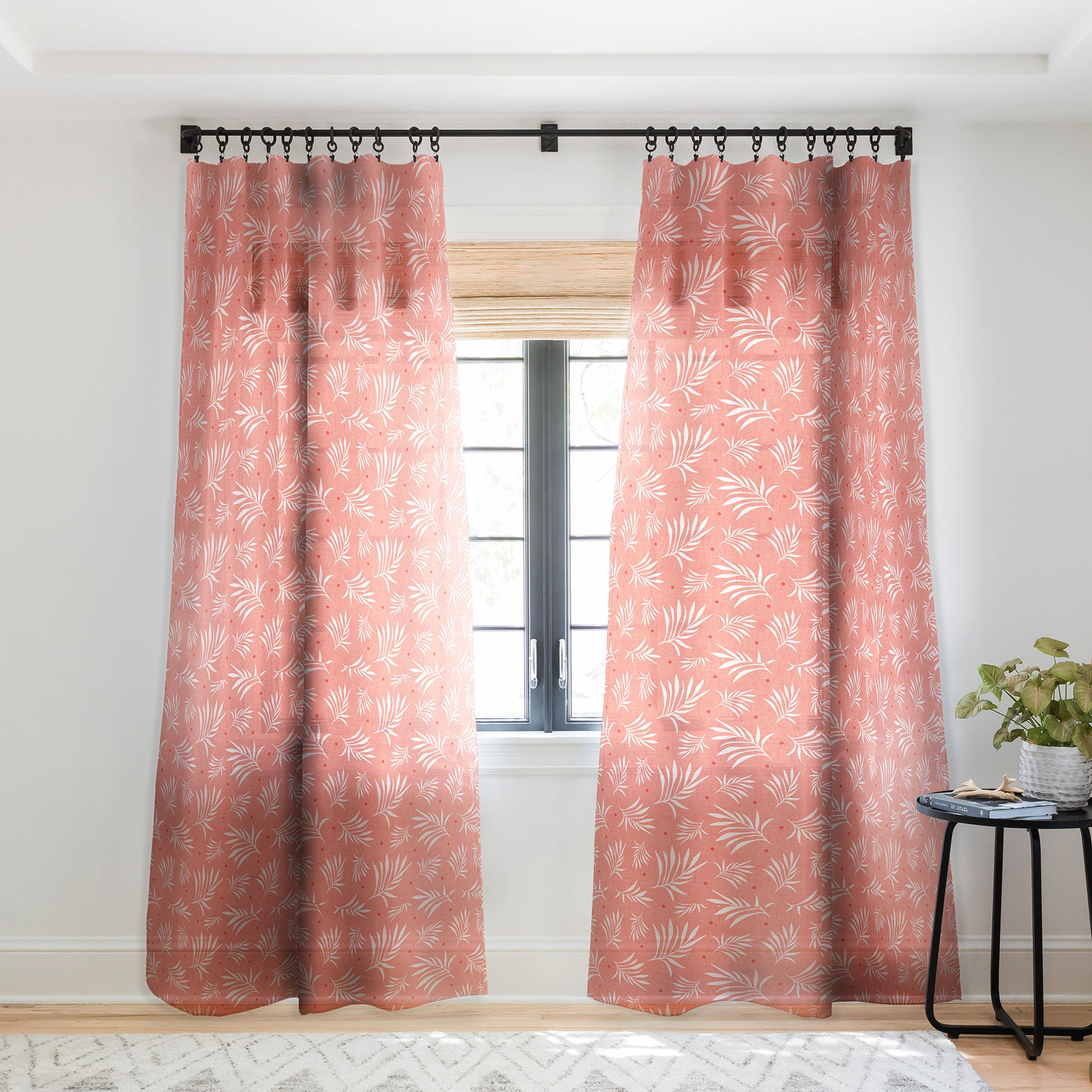 Heather Dutton Island Breeze Living Coral Sheer Window Curtain