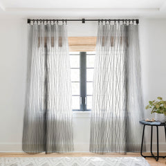 Heather Dutton Linear Cross Stone Sheer Window Curtain