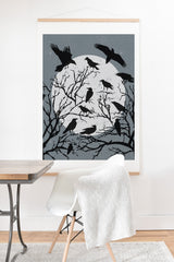 Heather Dutton Ravens Call Midnight Art Print And Hanger