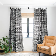 Heather Dutton Rhythm Black Blackout Window Curtain