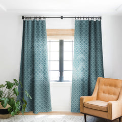 Heather Dutton Solstice Teal Blackout Window Curtain