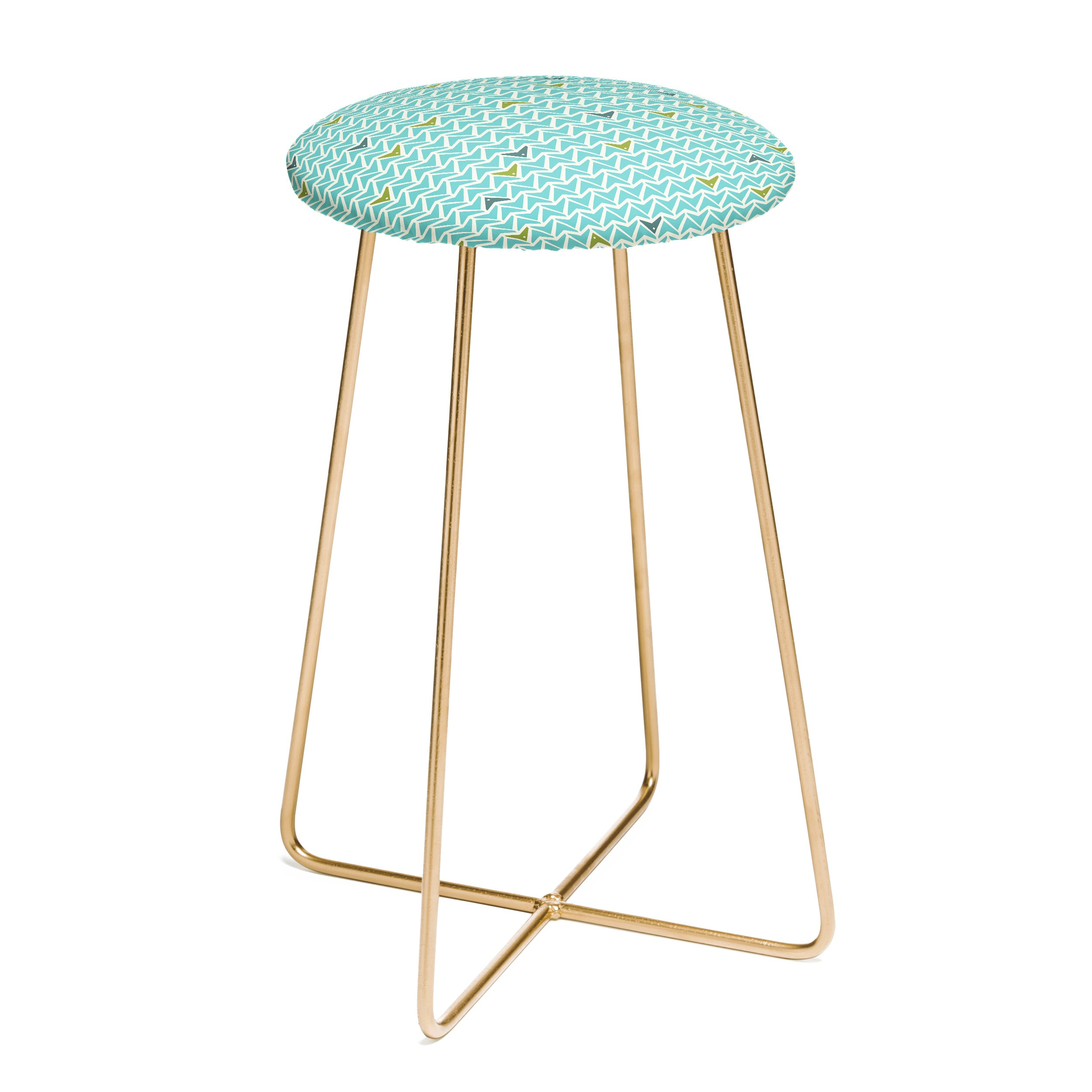 Heather Dutton Take Flight Aqua Counter Stool