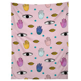 Hello Sayang Eyes Hands Lips Dots Tapestry