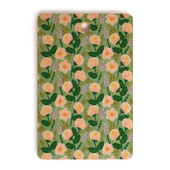 Hello Sayang Lovely Roses Green Cutting Board Rectangle