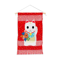 Hello Sayang Lucky Cat Wall Hanging Portrait