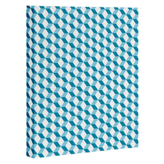 Hello Twiggs Blue Lisbon Tile Art Canvas