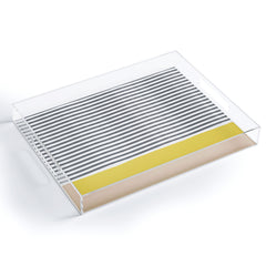 Hello Twiggs Watercolour Stripes Mustard Acrylic Tray