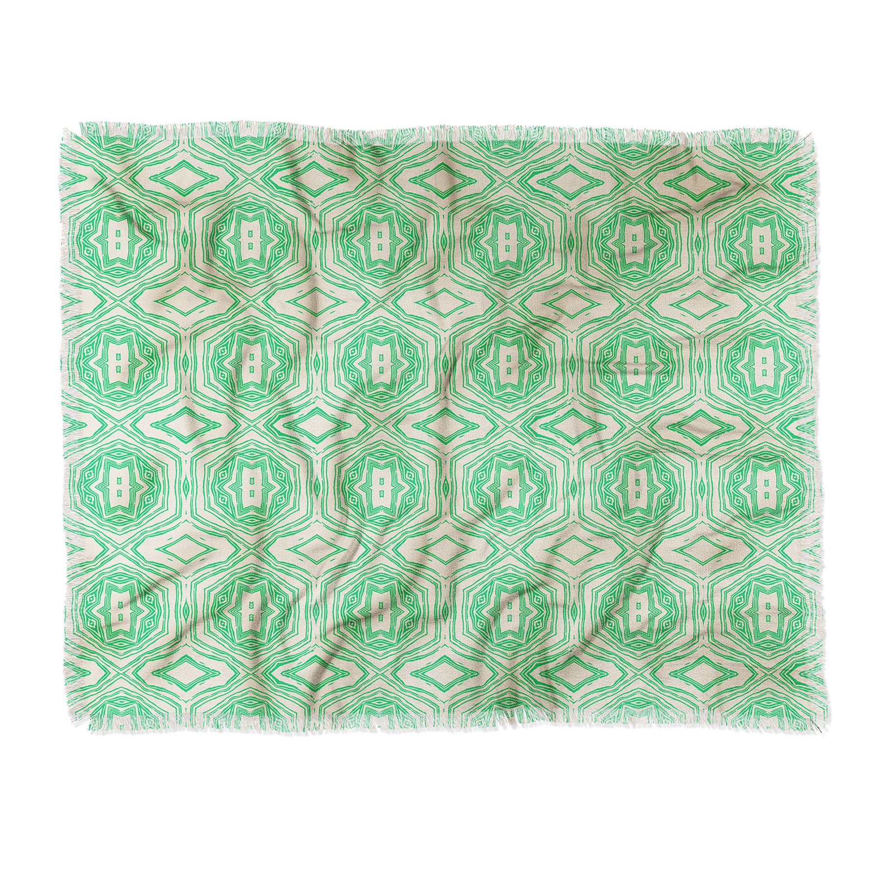Holli Zollinger ANTHOLOGY OF PATTERN SEVILLE MARBLE GREEN Throw Blanket