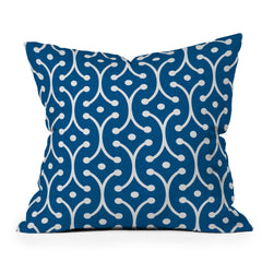 Holli Zollinger Denim Picket Throw Pillow