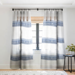 Holli Zollinger FRENCH LINEN CHAMBRAY TASSEL Sheer Window Curtain