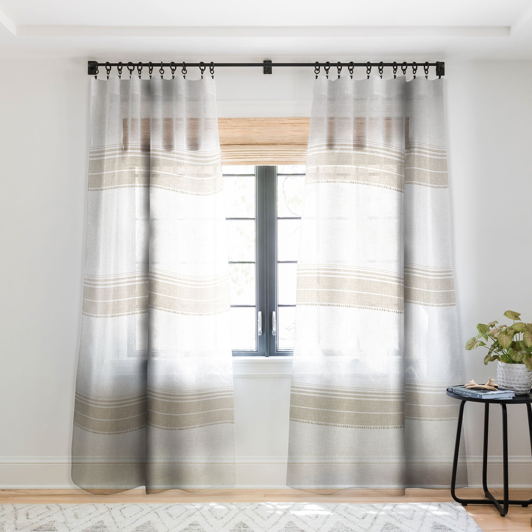 Holli Zollinger FRENCH LINEN TASSEL Sheer Window Curtain