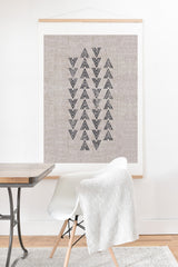 Holli Zollinger FRENCH LINEN TRI ARROW Art Print And Hanger