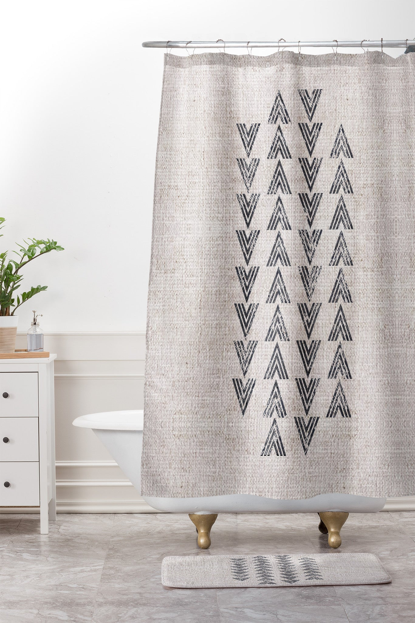 Shower Curtain And Mat By Holli Zollinger